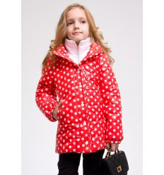 """Детская куртка """"Деми"""" красного цвета"""
