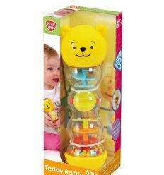 Развивающая игрушка-погремушка Тедди