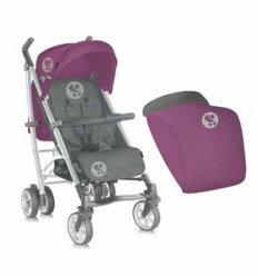 Коляска S-200 + Footcover Pink&Grey Lorelli