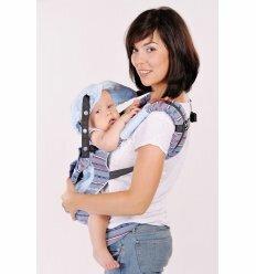 Ерго рюкзак-переноска My baby Морський (блакитна підкладка)