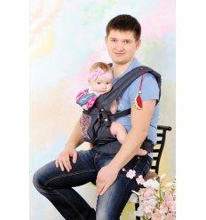 Слінг ергономічний рюкзак-переноска My baby синій джинс