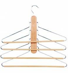 Вішалка для брюк і спідниць, 4 в 1, дерево, метал, ТМ МД