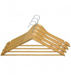 Вішалка для одягу, з нарізами, 12mm толщ. (4 шт.), ТМ МД