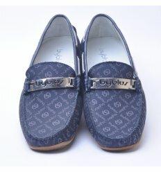 Мокасини Byblos текстиль синього кольору