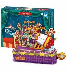 Трехмерная головоломка-конструктор 'Цирк: клоун-трюкач'