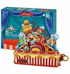 Трехмерная головоломка-конструктор 'Цирк. Веселый морской лев'