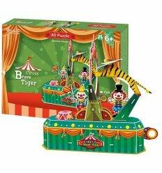 Трехмерная головоломка-конструктор 'Цирк. Храбрый тигр'