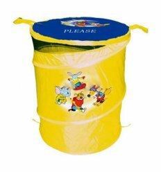 Корзина для игрушек - желтая, 46х57см. DEVIK play joy