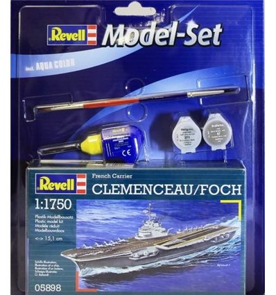 Model Set Корабль French Aircraft Carrier 'Clemenceau'1:1750