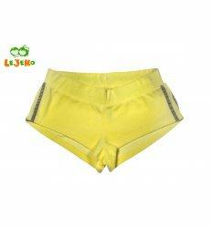 Шорти, колір жовтий з сірими смугами