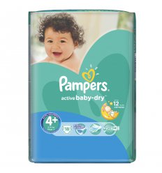 Подгузники Pampers 4 activebaby макси 9 20 кг 18 шт