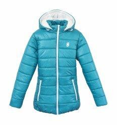Куртка Frantolino 2202-008 с капюшоном сине-зеленая