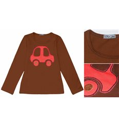 """Джемпер """"Машинка"""" коричневый"""