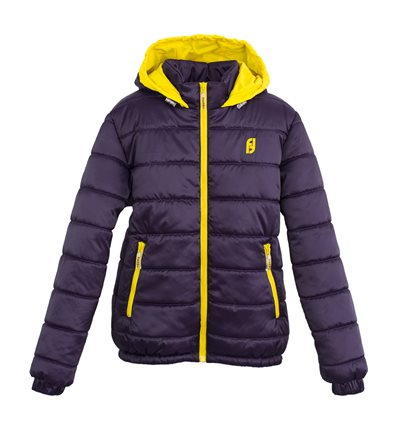 Куртка Frantolino 2002-044 с капюшоном для девочки фиолетовая