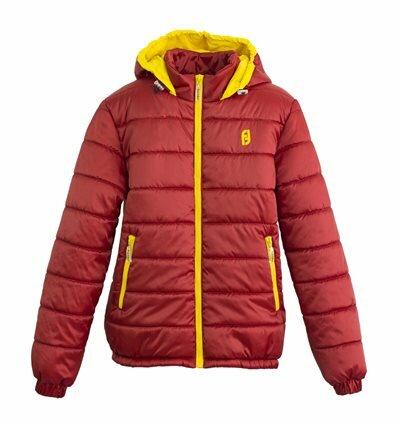 Куртка Frantolino 2002-068 с капюшоном для девочки бордовая