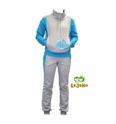 """Спортивний костюм """"Мото"""" з блакитними рукавами"""