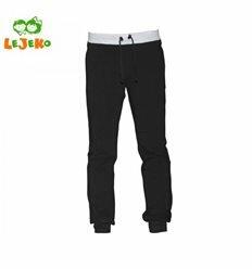 Спортивні штани чорні з сірим поясом