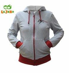 Спортивна куртка сіра з червоним кашкарсе