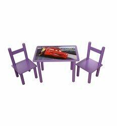 Набор стол и 2 стульчика Тачки